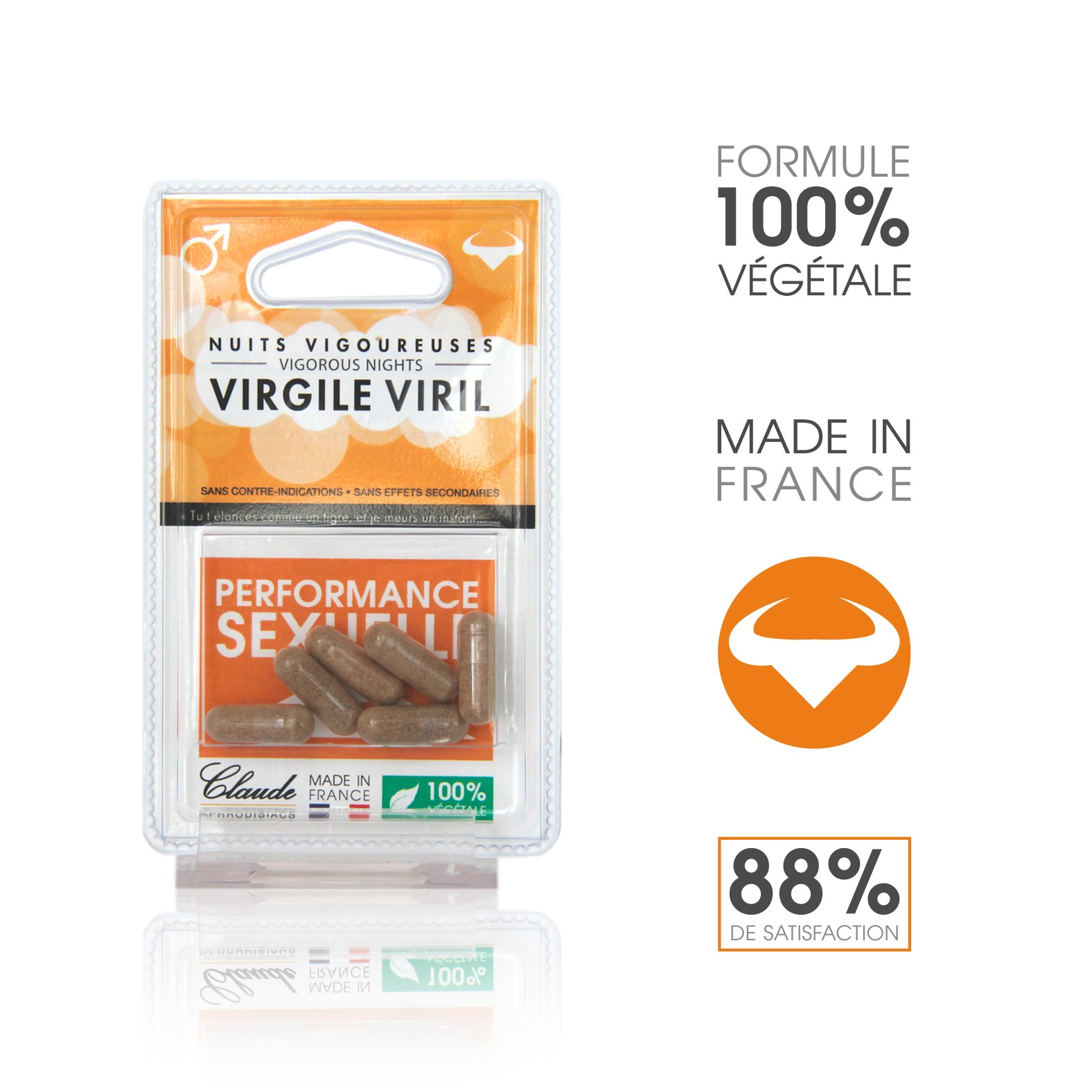 Blister de 6 Gélules VIrgile Viril Provocateur d'Erection