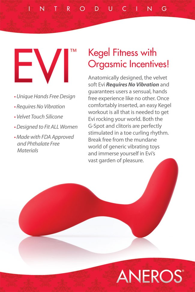 Aneros EVI spécial exercices de Kegel, Point G et clitoris