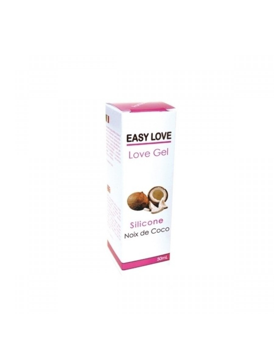 Easy Love Gel Lubrifiant Massage Erotique 50ml Noix de Coco