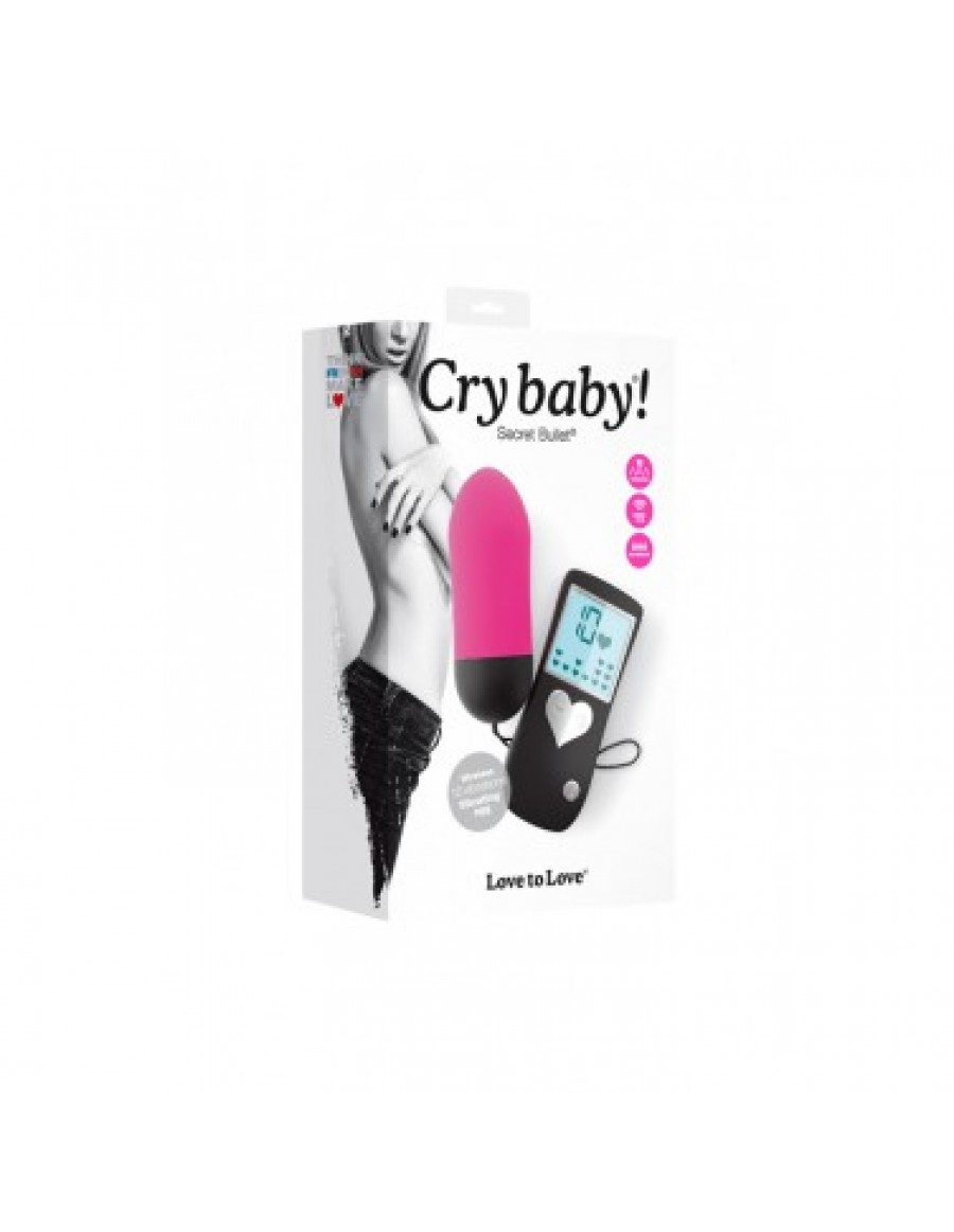 Cry Baby Secret Declic Oeuf vibrant sans fil